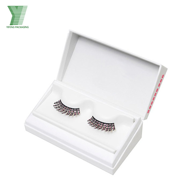 Custom logo cardboard luxury private label false eyelash packaging box