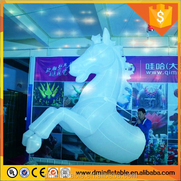 LED lighting for kid game decoration inflatable roadshow horse, inflatable horse costumes