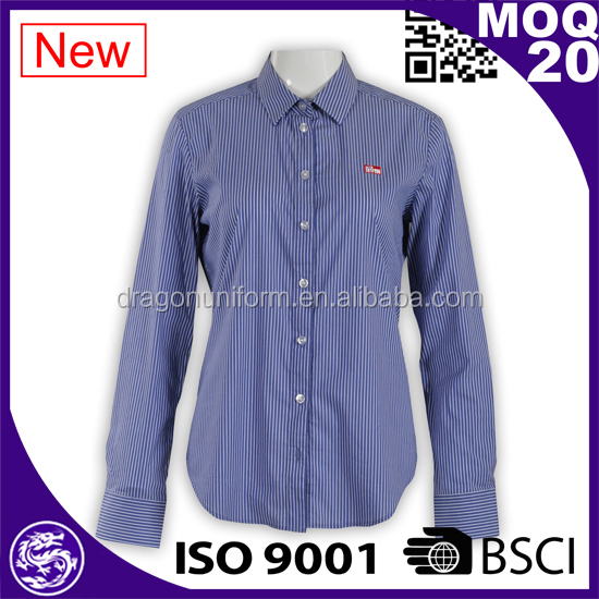 WRAP Audited Factories Custom Shirt Long Sleeve Slim Fit Shirt