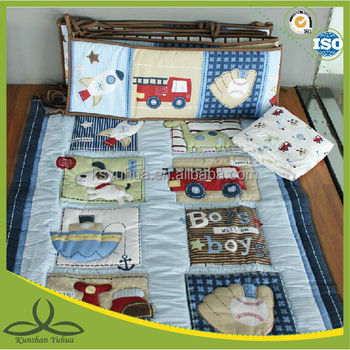 Baby boy patchwork baby bedding set
