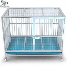 New Arrival Strong Stainless Steel Dog Cage With Wheel