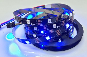 IP65 5m APA102 60LEDs/m White/Black PCB Smart led pixel strip DC5V SMD5050