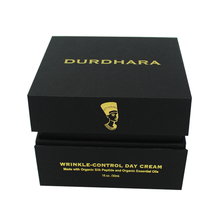 custom made luxury gold stamping cosmetic gift set packaging flip box