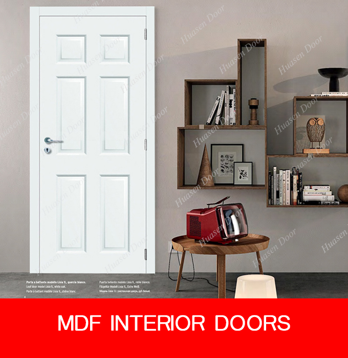 White 6 panel interior cardboard doors with frame