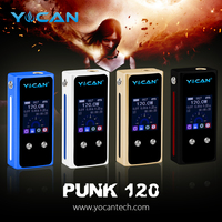 Yocan newly launched 120w e cig box mod Punk120 with temperature control sex tube box king mod rda