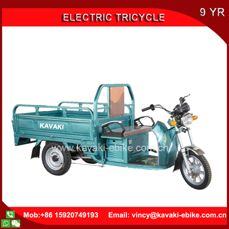 KAVAKI Factory 3 wheel electric tricycles 1000W Big Powerful Cargo Tricycle