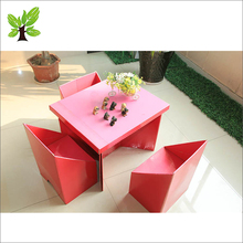 Cheap Home Office furniture Paper cardboard chair design plans box table cardboard chair