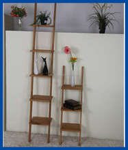 Wooden corner wall display one side modern big shelf with oil