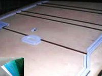 transaprent petg sheet board for wire shelf cover High toughness and impact Cold-formed non-white