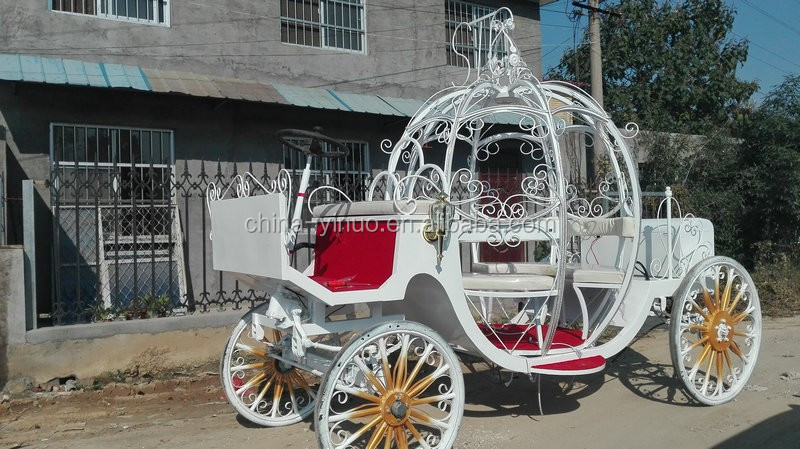 Carruajes fabricante Yizhinuo Customed Electric Cinderella wedding carriage with LED lights