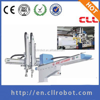 One axis servo motor driving cartesian robot arm for injection mould machine