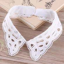 Ladies decorative collar chemical lace trimming neckline detachable collar for women garment