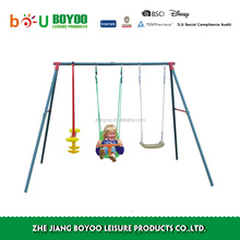 Galvanized steel leisure outdoor metal swing sets adults kids