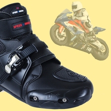 BH-143Bt-4 Top Quality White Sportbike Footwear Racing Riding Mens Short Bike Motorcycle Boots