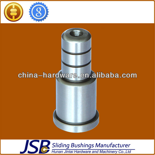 Hardened steel oil groove shouldered guide pillars with collars plastic mould spare parts