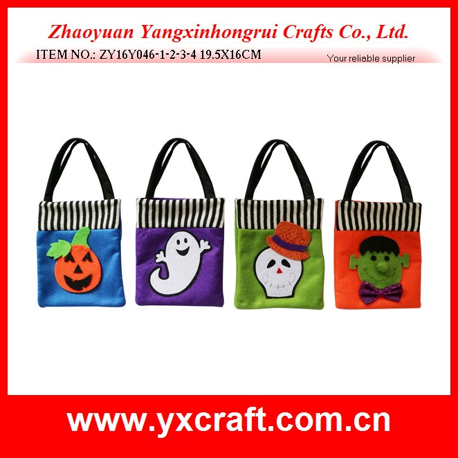 Halloween decoration (ZY16Y046-1-2-3-4 19.5X16CM) customized handicraft gift candy bag halloween