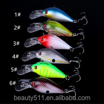 HOT sale 3D Eye Artificial Bait fishing lure Lures 6# Hook 8cm 16.4g crank Fishing Lure Hard Artificial Swim Baits 6 colour