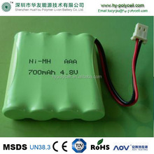 18650 Nimh Battery 4.8v 800mah Nimh Rechargeable Battery Pack 4.8v