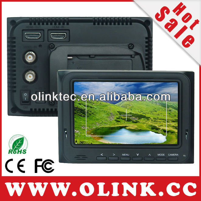 Olink 5 inch HD/SD On-board Monitor HDMI in HDMI out Video in Audio in (FM5D)