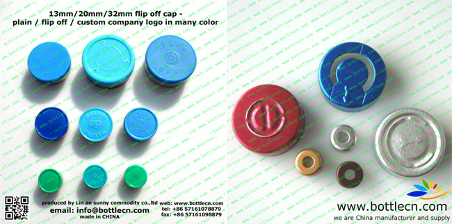 20mm flip off cap cups with logo