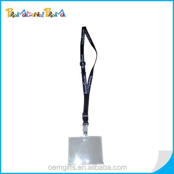 Hot cheap Lanyard with Plastic ID Card Holder