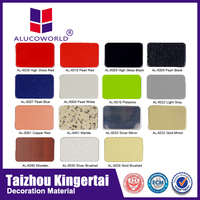 Alucoworld 4x8 colored and coated decorative corrugated metal sheets acp sheets commercial gypsum ceiling tile walls panels