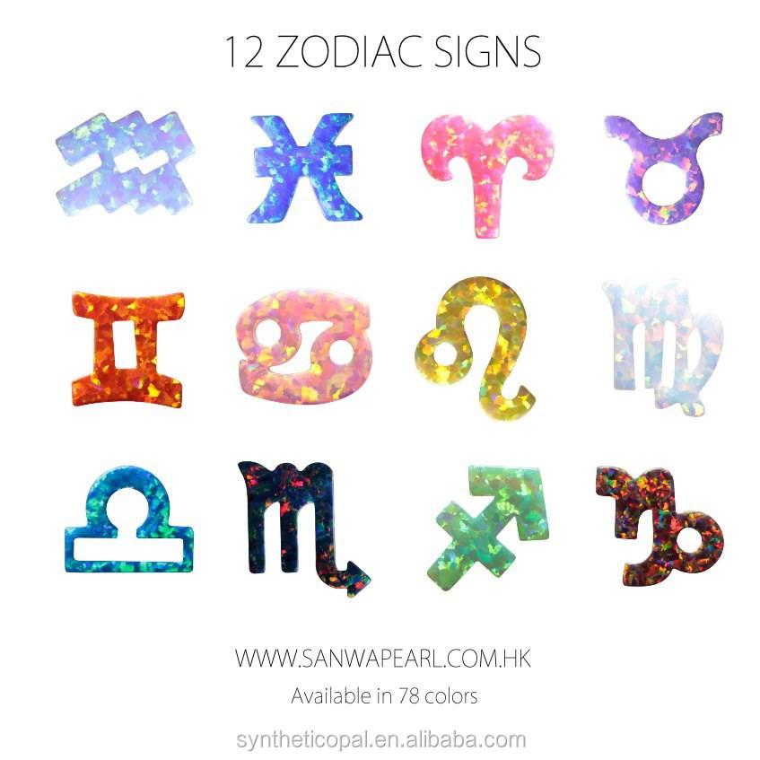12 signes du zodiaque charm synth tique opal horoscope 78 couleurs pierres pr cieuses en. Black Bedroom Furniture Sets. Home Design Ideas