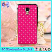Protective Case For Huawei Ascend P6 Bling Crystal Diamond Metal Case For Huawei Mobile Phone Cover