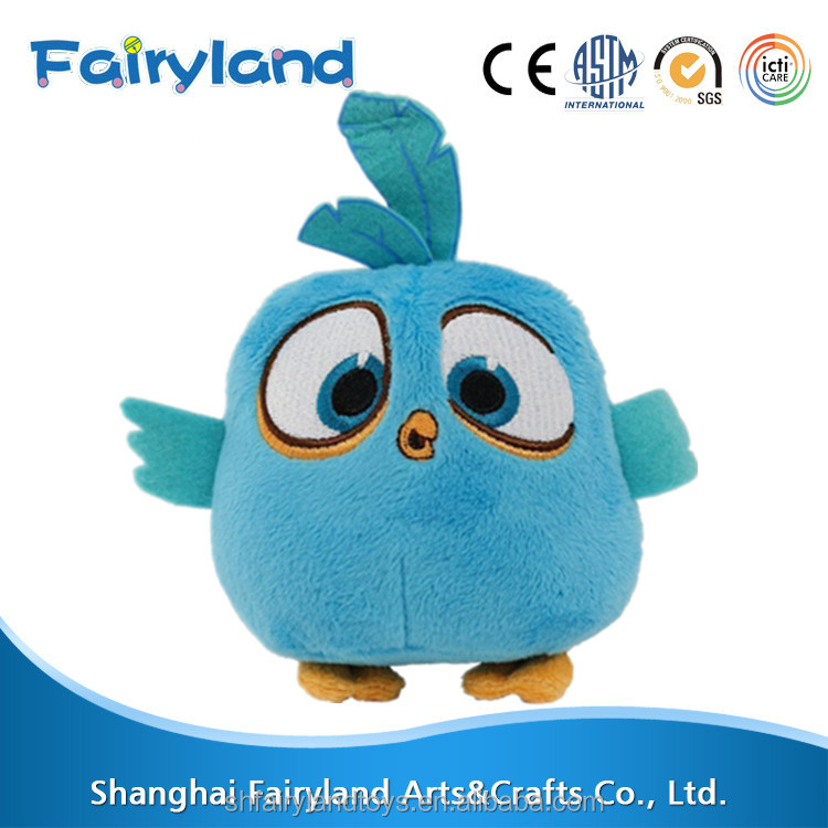 New Design Blue Birds China Plush Toy 7inch