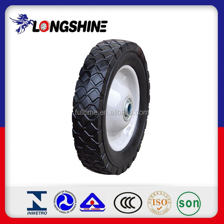 "Powder Rubber Solid Wheel 10"" X 2.5"" Hot Sale Factory Price"