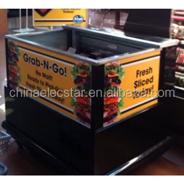 Open top cooler with new design,streamlined air curtain