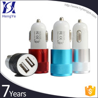 Promotional micro portable dual usb wireless Colorful 12v car battery charger for iphone