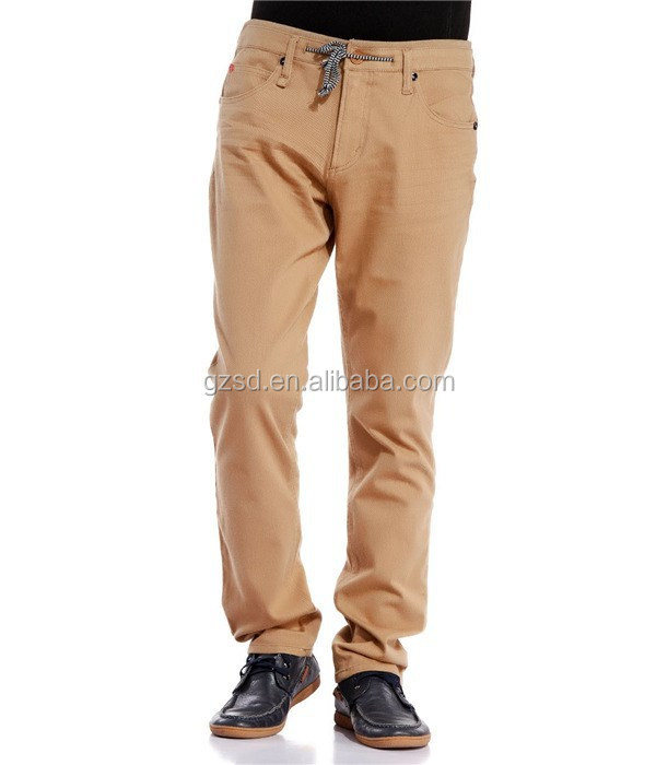 Make in China cheap price new style khaki long stretch pants