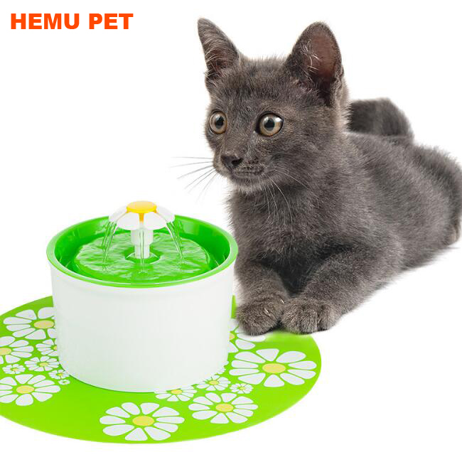 2017 hemu flower cats dogs water dispenser automatic electric pet drinking fountain