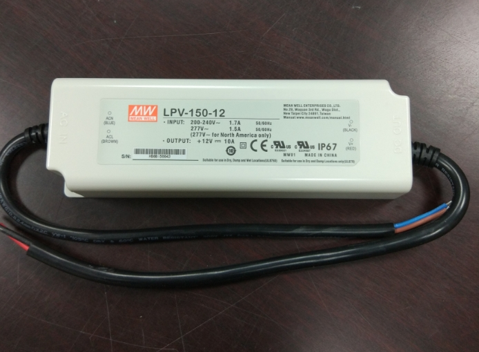 Meanwell 200W LED Driver 700mA 143V to 286V Constant Current HLG-185H-C700A Waterproof Power Supply