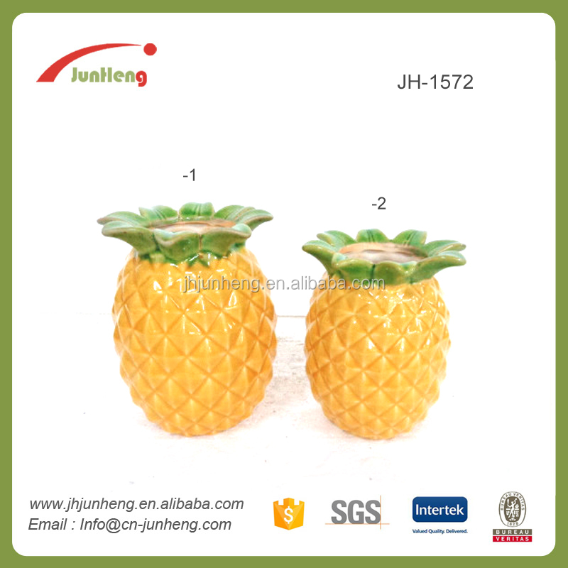 Home decor wholesale pineapple ornament, home decoration ceramic pineapple, ceramic pineapple shaped jar