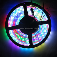 DMX controled 5050 14.4W addressable ws2812b dsi led strip light