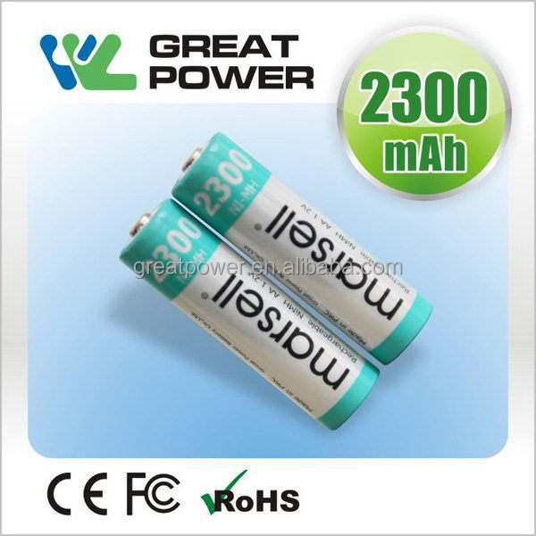 Best quality hot sell cylindrical rechargeable nimh battery