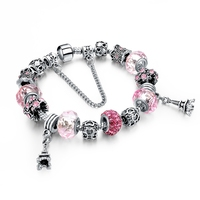 Pretty In Pink European Charm Bracelet - Small Girls, Kid, Children Sizes Available - Gifts For Her