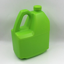 Custom HDPE rectangle chemical 4 litre plastic bottle with tamper proof lid