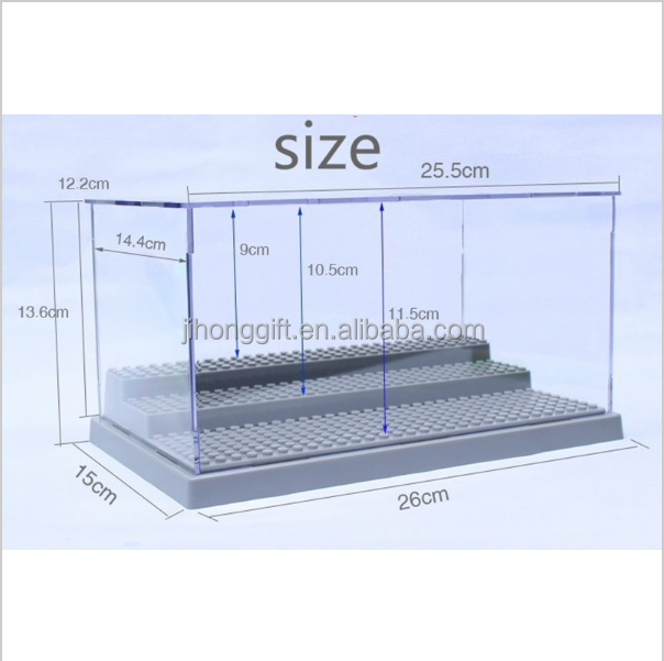 New Latest Building Blocks Acrylic Display Box Minifigure Showcase Ladder Cabinets Toys