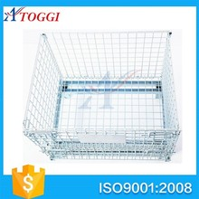 warehouse collapsible welded metal wire mesh storage cage