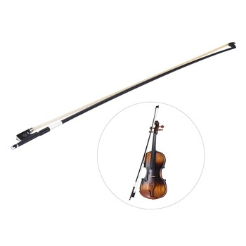 Well Balanced Carbon Fiber 4/4 Violin Fiddle Bow Round Stick Exquisite Horsehair Ebony Frog