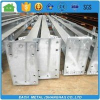 Galvanized H steel structure for main frame