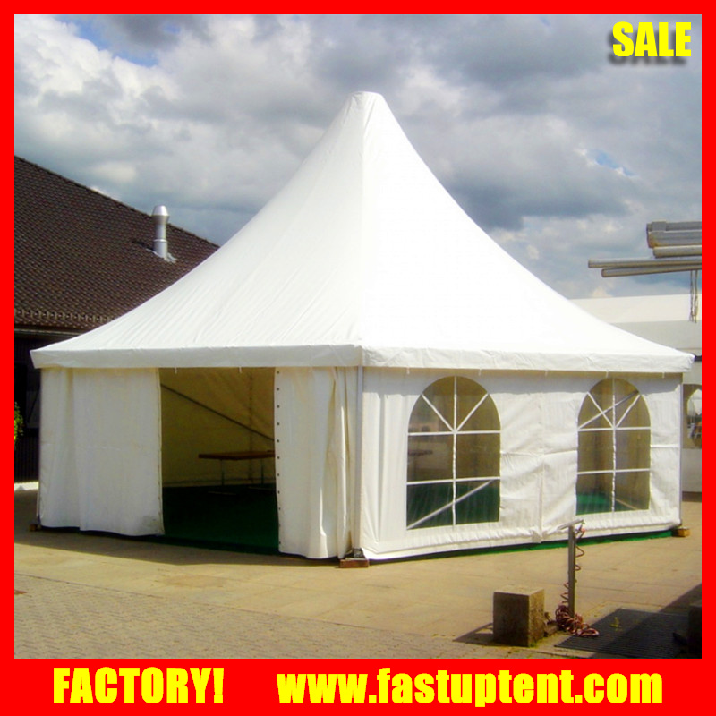 Aluminum White hexagon pagoda party tent for outdoor event in tents