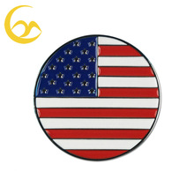 Cheap magnetic USA flag golf ball marker