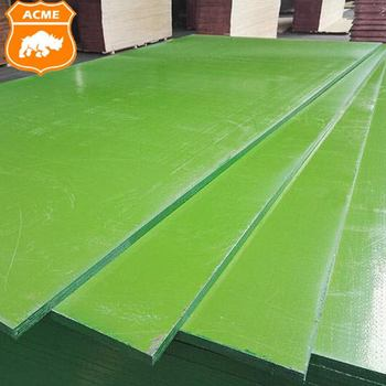 Green Plastic Film faced plywood / Formwork plywood