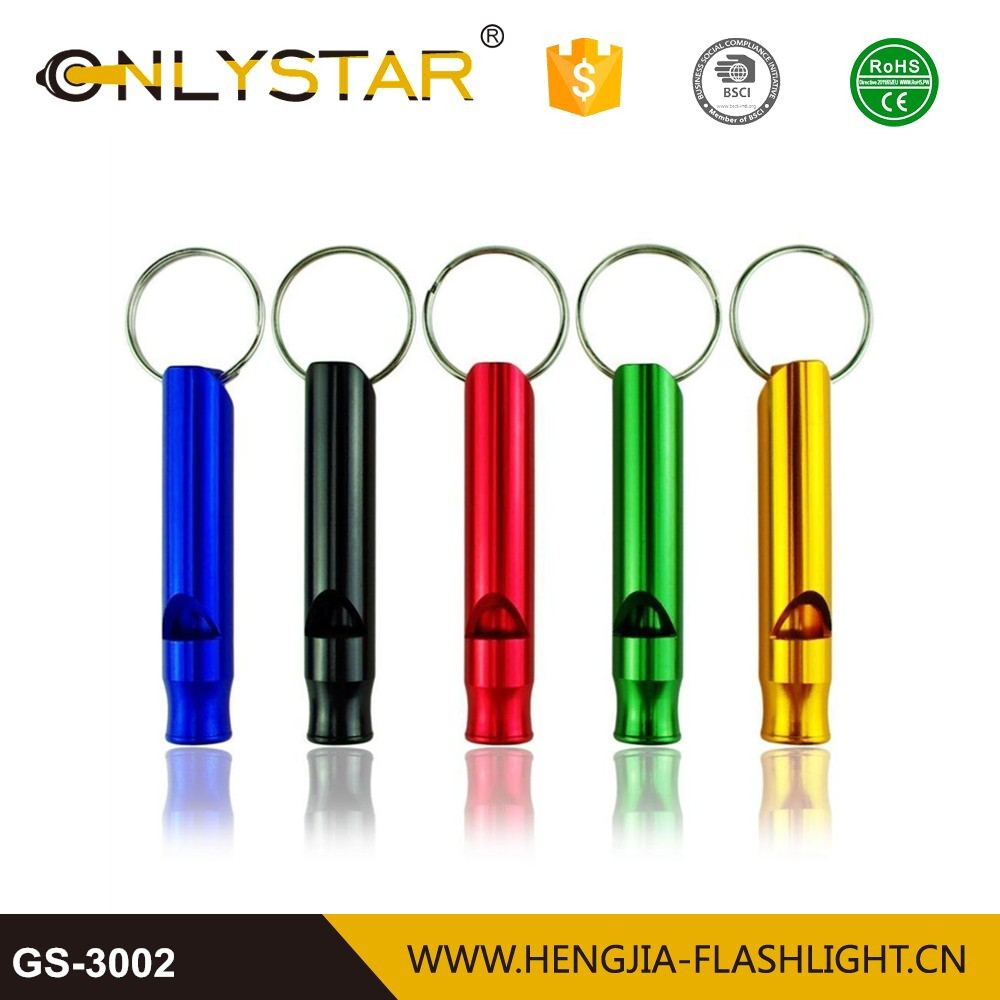 Wholesale souvenir keychain finder flat whistle