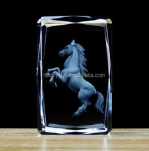 Nice 3D crystal laser engraving gifts for souvenir