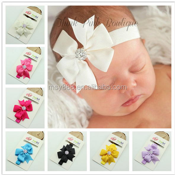Wholesale Baby Bow Rhinestone Headband Infant Hair Accessories Toddler Headband